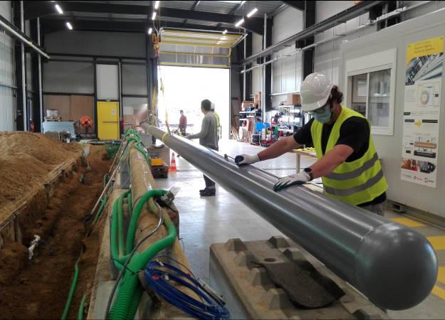 Photo de la news FEBUS Optics' Test Center: reception of the new pipeline